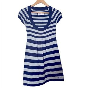 🎀2 for $20 Garage black and grey striped dress